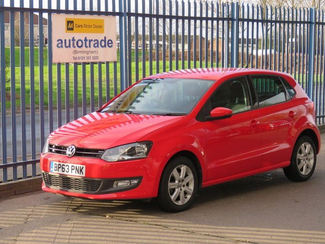 USED 2014 63 VOLKSWAGEN POLO 1.2 MATCH EDITION 5d 59 BHP Bluetooth ULEZ COMPLIANT VW POLO 1.2 MATCH