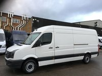 USED 2017 17 VOLKSWAGEN CRAFTER 2.0TDI CR35 LWB HIGH ROOF BMT 140BHP EURO 6 ULEZ. FINANCE. PX EURO 6 ULEZ. VW WARRANTY. LOW FINANCE. PX WELCOME.