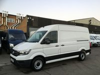 USED 2018 18 VOLKSWAGEN CRAFTER 2.0TDI CR35 MWB HIGH ROOF STARTLINE 140BHP EURO 6. AC. SENSORS. AC. SENSORS. EURO 6 ULEZ. VW WARRANTY. FINANCE. PX