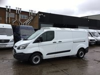 USED 2016 66 FORD TRANSIT CUSTOM 2.2TDCI T290 L2 LOW ROOF LWB ULEZ EU6. LOW 37K MILES. PX SUPER LOW 37K MILES. EURO 6 ULEZ. LONG. FINANCE. PX