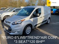 2017 FORD TRANSIT CONNECT *EURO 6*1.5 240 TREND LWB 118 BHP 6 Speed*AIR CON*3 SEAT* £7495.00