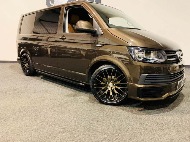 2018 68 VOLKSWAGEN TRANSPORTER swb a/c day van full width r&r bed 2018 150 bhp map