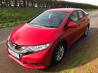 USED 2014 14 HONDA CIVIC 1.3 I-VTEC S 5d 98 BHP **EXCEPTIONALLY LOW MILES**FULL SERVICE HISTORY**MOT**LOVELY DRIVE**