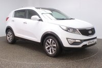 USED 2014 14 KIA SPORTAGE 1.6 2 ISG 5DR 133 BHP FULL SERVICE HISTORY + HALF LEATHER SEATS + PANORAMIC ROOF + PARKING SENSOR + BLUETOOTH + CRUISE CONTROL + CLIMATE CONTROL + MULTI FUNCTION WHEEL + RADIO/CD/AUX/USB + XENON HEADLIGHTS + PRIVACY GLASS + ELECTRIC WINDOWS + ELECTRIC/HEATED DOOR MIRRORS + 17 INCH ALLOY WHEELS