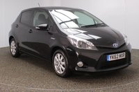USED 2012 62 TOYOTA YARIS 1.5 T4 HYBRID 5DR AUTO 1 OWNER 75 BHP FULL SERVICE HISTORY + FREE 12 MONTHS ROAD TAX + SATELLITE NAVIGATION + REVERSE CAMERA + BLUETOOTH + CLIMATE CONTROL + MULTI FUNCTION WHEEL + PRIVACY GLASS + RADIO/CD + ELECTRIC WINDOWS + ELECTRIC MIRRORS + 15 INCH ALLOY WHEELS
