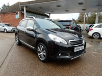 USED 2014 64 PEUGEOT 2008 1.6 E-HDI CROSSWAY 5d 115 BHP FULL HISTORY,SAT NAV,BLUETOOTH,CRUISE,TWO KEYS,USB AND AUX