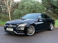 """USED 2016 16 MERCEDES-BENZ C CLASS 4.0 AMG C 63 PREMIUM 4d 469 BHP PANORAMIC ROOF, SPORTS EXHAUST, REVERSE CAM, DAB RADIO, BURMISTER AUDIO, 19"""" WHEELS AND MUCH MORE, ONE OWNER, STUNNING EXAMPLE, FINANCE AVAILABLE"""