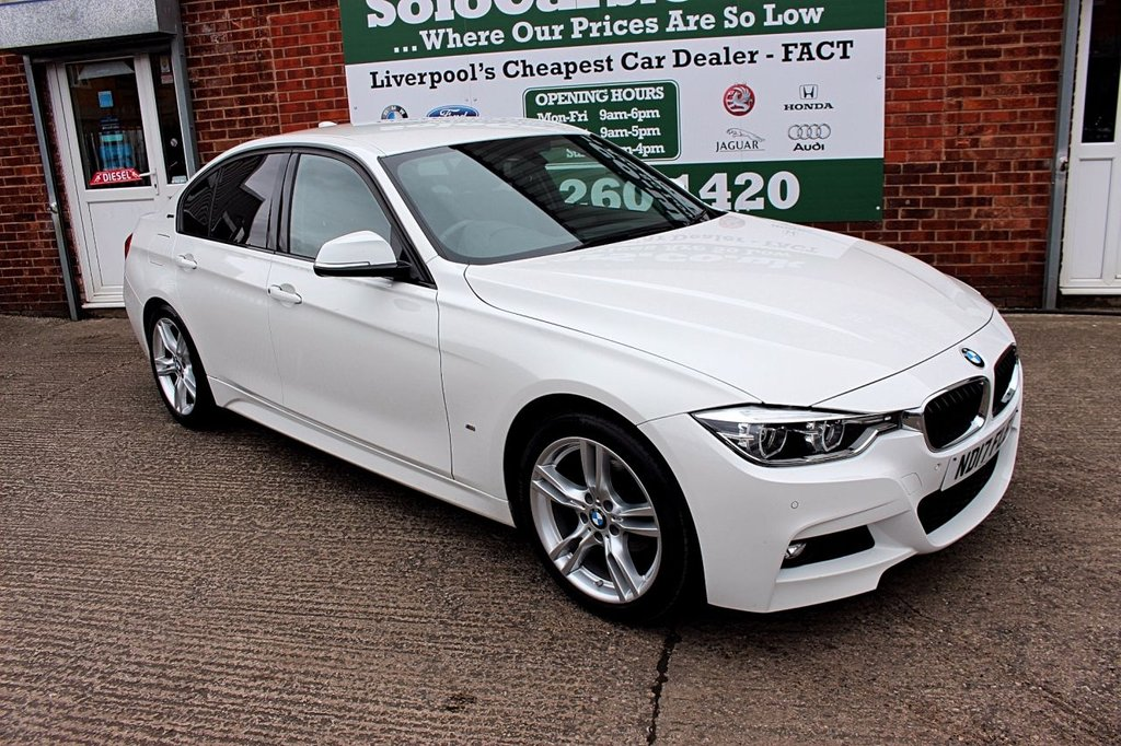 USED 2017 17 BMW 3 SERIES 2.0 330E M SPORT 4d AUTO 181 BHP +SAT NAV +LEATHER +H KARDON.