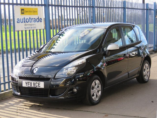 USED 2011 11 RENAULT SCENIC 1.6 BIZU 5d 110 BHP BLUETOOTH CONNECTIVITY AND ULEZ EMISSIONS COMPLIANT BLUETOOTH CONNECTIVITY AND AIR CONDITIONING ULEZ EMISSIONS COMPLIANT