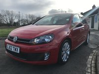 2012 VOLKSWAGEN GOLF 2.0 GTD 170ps DSG FSH 5 DOOR LEATHER TORNADO RED  £8995.00