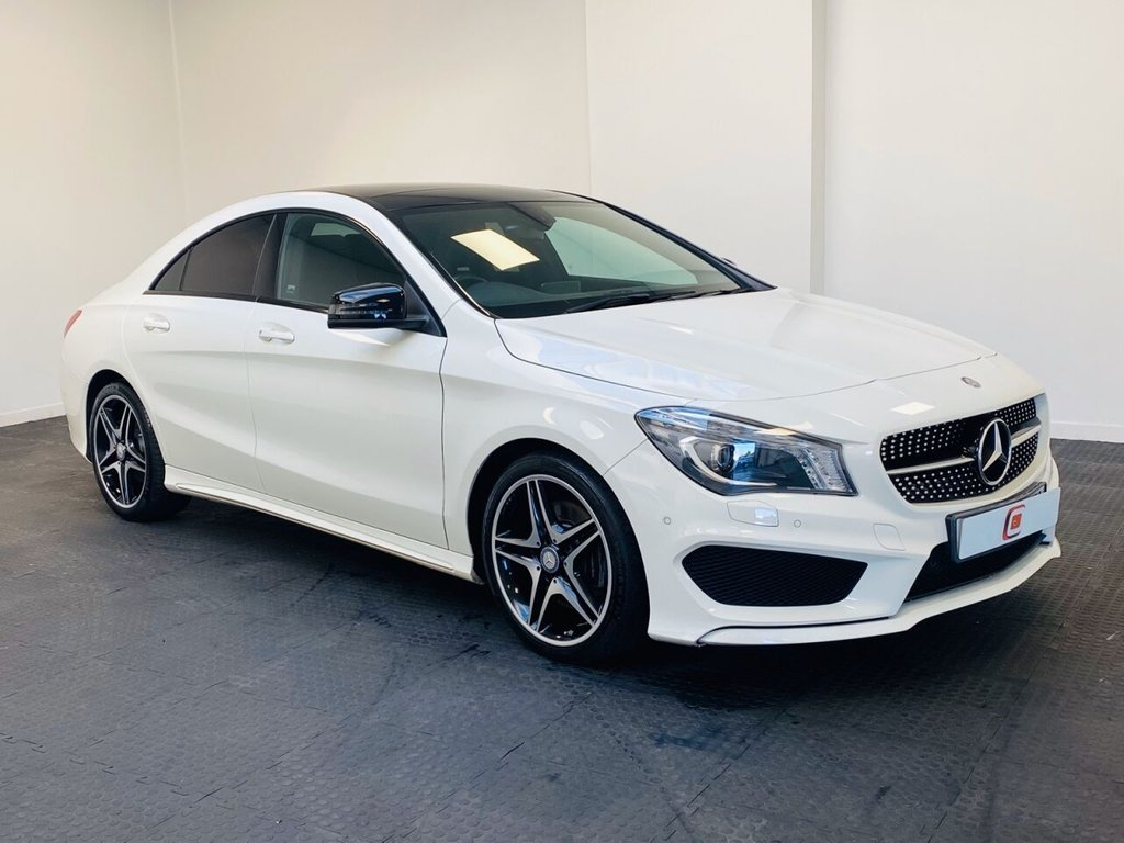 USED 2014 64 MERCEDES-BENZ CLA 2.1 CLA220 CDI AMG SPORT 4d 170 BHP PANORAMIC ROOF + LOW MILES + SERVICE HISTORY + SAT NAV