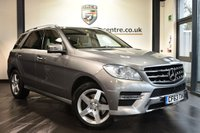 """USED 2013 63 MERCEDES-BENZ M CLASS 3.0 ML350 BLUETEC AMG SPORT 5d AUTO 258 BHP Finished in a stunning palladium metallic silver styled with 19"""" alloys. Upon opening the drivers door you are presented with full beige leather interior, full service history, comand satellite navigation, bluetooth, reversing camera with top view, cruise control, electric memory seats, dual climate control, AMG styling package, blind spot assistant, automatic lane recognition, active park asist, ULEZ EXEMPT"""