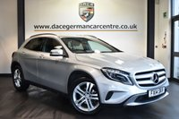 """USED 2014 14 MERCEDES-BENZ GLA-CLASS 2.1 GLA200 CDI SE PREMIUM 5DR 136 BHP Finished in a stunning polar metallic silver styled with 18"""" alloys. Upon opening the drivers door you are presented with full leather interior, full service history, satellite navigation, bluetooth, heated seats, DAB radio, xenon lights, blind spot assistant, multi functional steering wheel, attention assist, mirror package, headlight cleaning equipment, active park assist, ULEZ EXEMPT"""