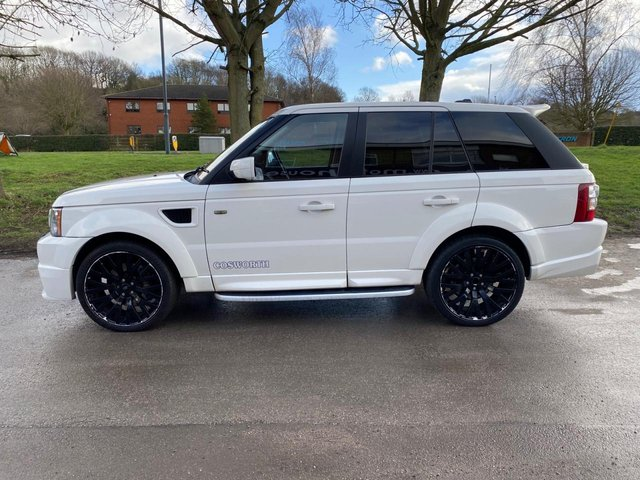 USED 2008 58 LAND ROVER RANGE ROVER SPORT 3.6 TDV8 SPORT HSE 5d 269 BHP. COSWORTH KHAN COSWORTH TUNED ENGINE, UPGRADE HIGH GRADE COSWORTH LEATHER INTERIOR, COSWORTH/KHAN BODYKIT, HIGH LEVEL COSWORTH REAR SPOILERS, UPGRADE ALLOYS, UPGRADE TWIN EXHAUST, PUSH BUTTON START, SATELLITE NAVIGATION, TOUCH SCREEN, HEATED ELECTRIC MEMORY SEATS, CRUISE CONTROL, CLIMATE CONTROL, ELECTRIC WINDOWS, ELECTRIC DOOR MIRRORS