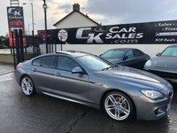 2013 BMW 6 SERIES 3.0 640D M SPORT GRAN COUPE 4d 309 BHP £15995.00