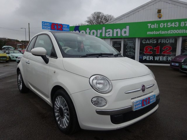 USED 2010 60 FIAT 500 1.2 LOUNGE 3d 69 BHP **  JUST ARRIVED ** CALL 01543 877320**