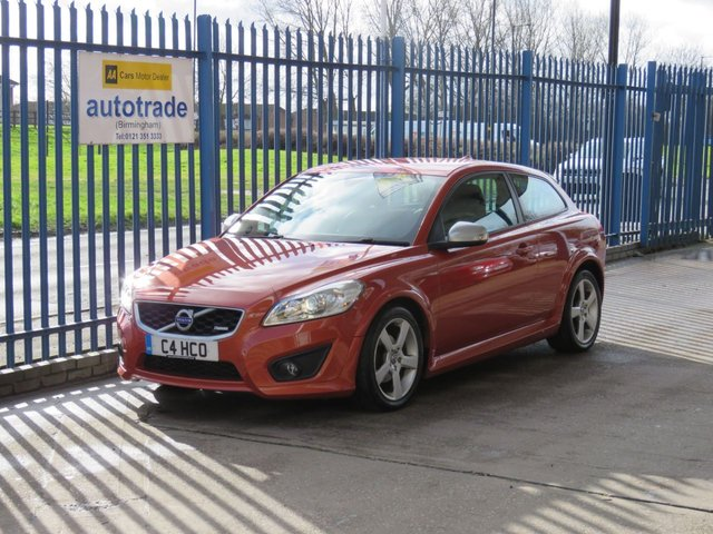 USED 2010 C VOLVO C30 1.6 D DRIVE R-DESIGN 3d 109 BHP Private Plate Included, service history £30 road tax, Excellent Service History, Orange Flame Pearlescent paintwork, Rear Parking sensors, and cruise control.