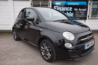 USED 2014 14 FIAT 500 1.2 S 3d 69 BHP 3 Service Stamps, BlueMe USB,  Alloys, Privacy Glass