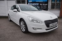 USED 2012 12 PEUGEOT 508 2.0 HDI ALLURE 4d 140 BHP FSH, White, Lthr Heated Electric Seats, B/tooth, USB,