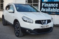 USED 2012 12 NISSAN QASHQAI 1.6 N-TEC PLUS IS 5d 117 BHP Service History, Sat Nav, Panoramic Glass Roof, B/tooth