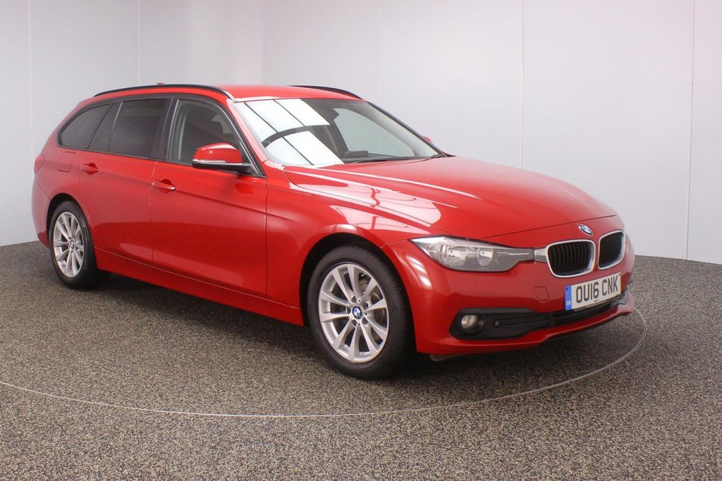 USED 2016 16 BMW 3 SERIES 2.0 318D SE TOURING 5DR 1 OWNER 148 BHP FULL BMW SERVICE HISTORY + £30 12 MONTHS ROAD TAX + SATELLITE NAVIGATION + PARKING SENSOR + HEAD-UP DISPLAY + BLUETOOTH + CRUISE CONTROL + CLIMATE CONTROL + MULTI FUNCTION WHEEL + PRIVACY GLASS + DAB RADIO + ELECTRIC WINDOWS + RADIO/CD/AUX/USB + ELECTRIC/HEATED DOOR MIRRORS + 17 INCH ALLOY WHEELS