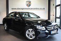 """USED 2017 66 MERCEDES-BENZ C CLASS 1.6 C 200 D SE EXECUTIVE EDITION 4DR AUTO 136 BHP Finished in a stunning black styled with 17"""" alloys. Upon opening the drivers door you are presented with full black leather interior, full service history, satellite navigation, bluetooth, reversing camera, cruise control, DAB radio, touchpad with rotary pushbutton, heated seats, active park assist, ULEZ EXEMPT"""
