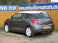 USED 2012 62 CITROEN DS3 1.6 DSTYLE 3d 120 BHP FSH, BLUETOOTH, AIR CON