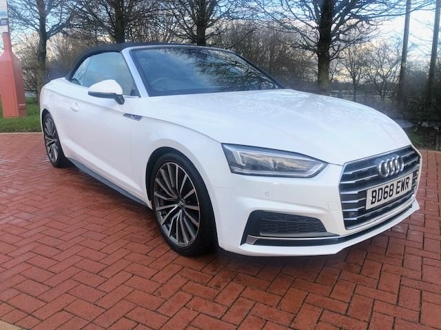 2018 68 AUDI A5 2.0 S LINE 40 TFSI CABRIOLET 2d 190 BHP ++ FREE HOME DELIVERY ++