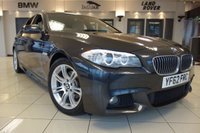 USED 2012 62 BMW 5 SERIES 2.0 520D M SPORT 4d AUTO 181 BHP FINISHED IN STUNNING METALLIC SOPHISTO GREY WITH SUPERBLY CONTRASTING OYSTER CREAM LEATHER HEATED SEATS + BLACK INTERIOR CARPETTING + SATELLITE NAVIGATION + DOCUMENTED SERVICE HISTORY + DAB DIGITAL RADIO + BLUETOOTH PHONE AND BLUETOOTH MUSIC INTERFACE + DUAL ZONE AIR CONDITIONING + CLIMATE CONTROL + HEADLIGHT CLEANING SYSTEM + XENON HEADLIGHTS + PARKING SENSORS + DAYTIME RUNNING LIGHTS + CRUISE CONTROL + FRONT AND REAR PARKING SENSORS + HEATED SEATS + 18 INCH M SPORT ALLOY WHEELS