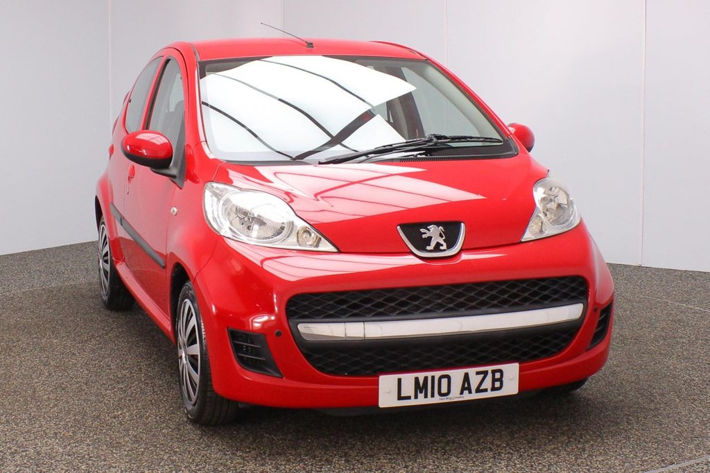 USED 2010 10 PEUGEOT 107 1.0 URBAN 5DR AUTO 1 OWNER 68 BHP SERVICE HISTORY + £20 12 MONTHS ROAD TAX + LOW MILEAGE + AIR CONDITIONING + ELECTRIC WINDOWS + ELECTRIC MIRRORS