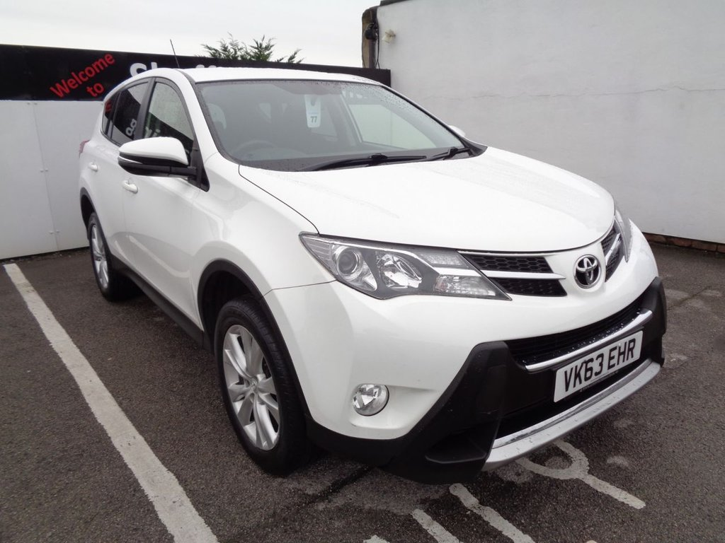 USED 2013 63 TOYOTA RAV4 2.2 D-4D ICON 5d 150 BHP 4x4 awd 4wd Parking sensors  climate control  full service history 2 keys sought after colour