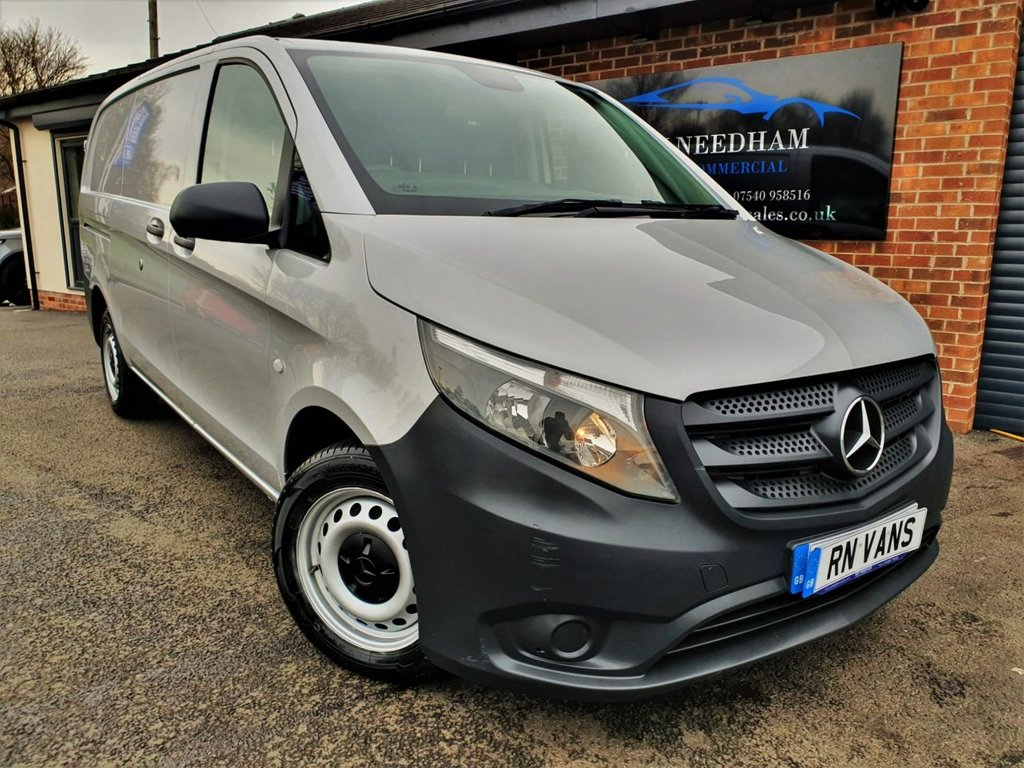 USED 2015 65 MERCEDES-BENZ VITO 1.6 111 CDI LONG 114 BHP **REV CAM - RACKING - TWIN SLIDE DOORS**