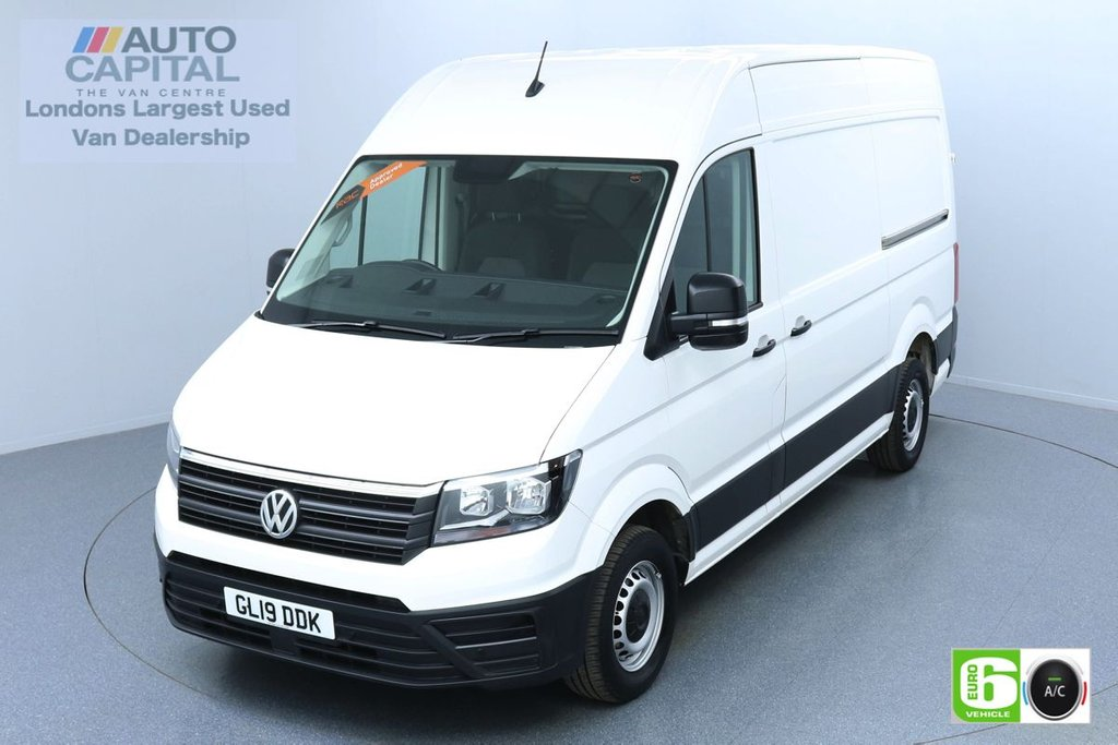 USED 2019 19 VOLKSWAGEN CRAFTER 2.0 CR35 TDI STARTLINE 138 BHP MWB EURO 6 ENGINE AIR CON | BUSINESS PACK