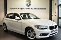 "USED 2016 16 BMW 1 SERIES 1.5 116D ED PLUS 5DR 114 BHP Finished in a stunning alpine white styled with 16"" alloys. Upon opening the drivers door you are presented with anthracite upholstery, full service history, satellite navigation, bluetooth, DAB radio, cruise control, Multifunction steering wheel, rain sensors, front armrest, parking sensors, ULEZ EXEMPT"