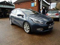 USED 2014 63 KIA CEED 1.6 CRDI 4 ECODYNAMICS 5d 126 BHP SAT NAV,LEATHER,HEATED SEATS,REAR CAM,BLUETOOTH,CRUISE