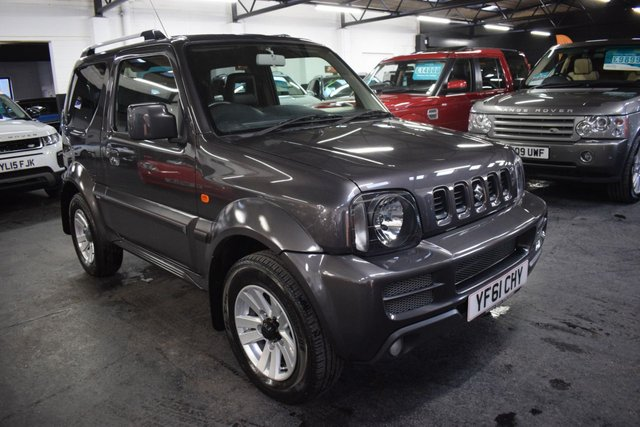USED 2011 61 SUZUKI JIMNY 1.3 SZ4 3d 85 BHP STUNNING CONDITION IN RARE QUASAR GREY - ONE PREVIOUS KEEPER - 9 SUZUKI STAMPS TO 45K - LEATHER SEATS - ALLOYS