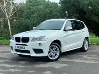 USED 2013 13 BMW X3 2.0 XDRIVE20D M SPORT 5d 181 BHP M SPORT, 1 OWNER, AUTOMATIC, LEATHER, REVERSE CAM, PRO NAVIGATION, GREAT CAR WITH SPEC TO MATCH, FINANCE AVAILABLE!!!
