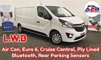 2018 VAUXHALL VIVARO  1.6 CDTI 2900 SPORTIVE Euro 6 120 BHP LONG WHEEL BASE in White with Air Conditioning, Bluetooth, Cruise Control, Rear Parking Sensors, Front Fog Lamps and more £11980.00