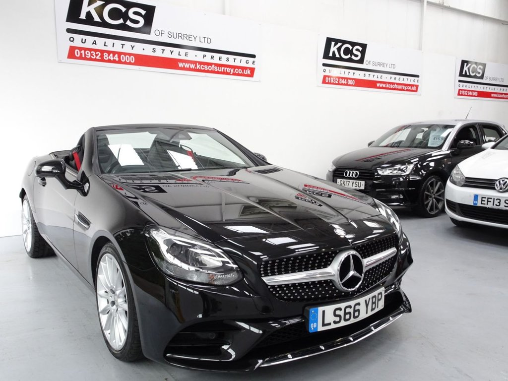 USED 2016 66 MERCEDES-BENZ SLC 2.1 SLC 250 D AMG LINE 2d 201 BHP AIR SCARF-HTD SEATS