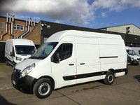 USED 2016 66 VAUXHALL MOVANO 2.3CDTI R3500 L3 H3 LWB SUPER HIGH ROOF 125BHP. LOW 40K MILES LOW 40K MILES. EURO 6 ULEZ. FINANCE. PX WELCOME