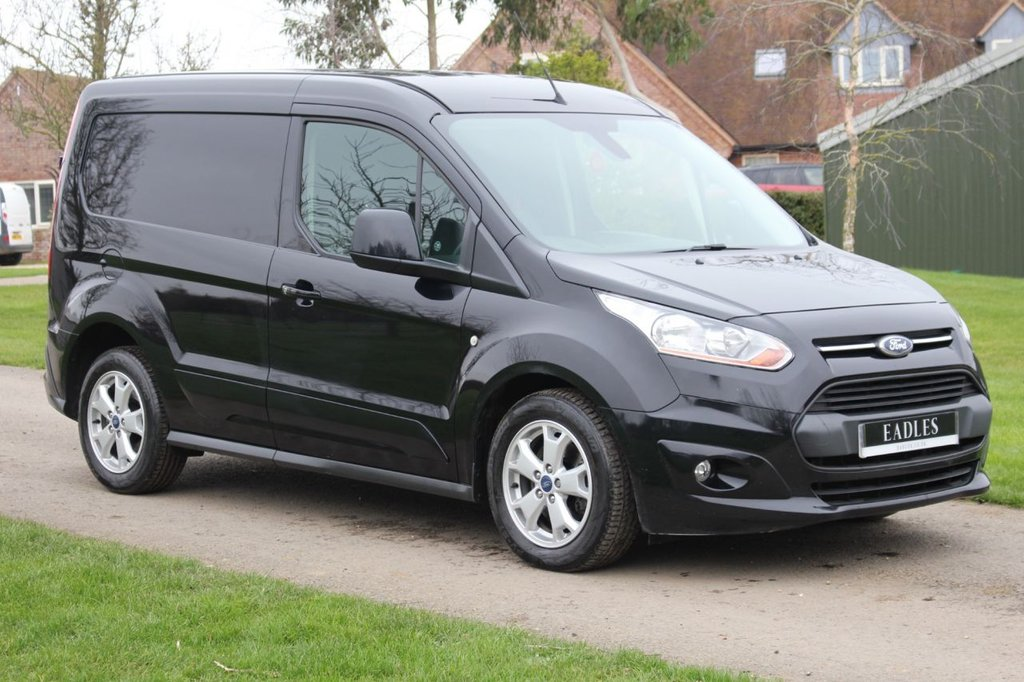 USED 2015 15 FORD TRANSIT CONNECT 1.6 200 LIMITED P/V 114 BHP * NO VAT BLACK LIMITED TOP SPEC FULL HISTORY SPARE KEYS WARRANTY INCLUDED *