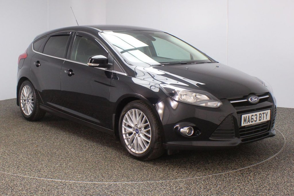 USED 2013 63 FORD FOCUS 1.0 ZETEC 5DR 124 BHP £30 12 MONTHS ROAD TAX + PARKING SENSOR + BLUETOOTH + AIR CONDITIONING + DAB RADIO + ELECTRIC WINDOWS + RADIO/CD/AUX/USB + PRIVACY GLASS + ELECTRIC/HEATED DOOR MIRRORS + 17 INCH ALLOY WHEELS