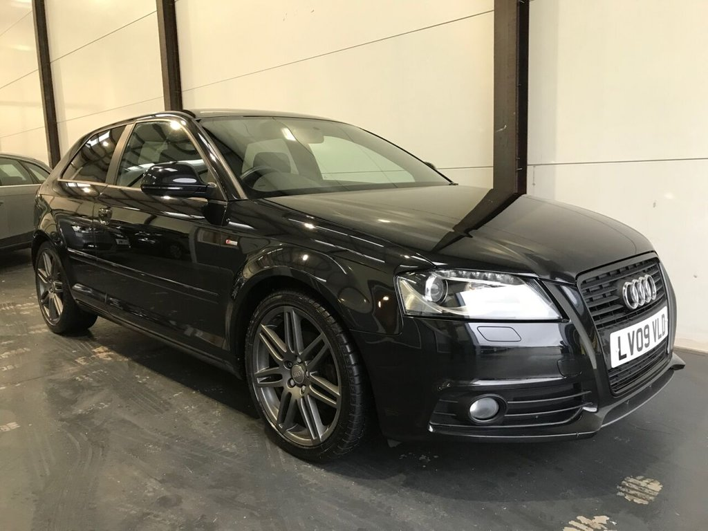 USED 2009 09 AUDI A3 1.8 TFSI S LINE SPECIAL EDITION 3d 158 BHP BLACK EDITION, BOSE, LEATHER