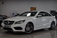 USED 2015 15 MERCEDES-BENZ E-CLASS 2.1L E220 BLUETEC AMG LINE 2d AUTO 174 BHP STUNNING WHITE E220 + FSH WITH 5 STAMPS!