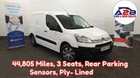 2014 CITROEN BERLINGO 1.6 LX HDI Low Mileage 44,804, 3 Seats, Rear Parking Sensors and more £5480.00