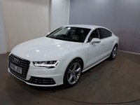 USED 2016 16 AUDI A7 3.0 SPORTBACK TDI QUATTRO SE EXECUTIVE 5d AUTO 215 BHP Finished in a stunning  Glacier white + alloys + Full Leather cream interior + Sat Nav + Bluetooth + Heated Seat + Leather interior + Multi Function Steering Wheel + Cruise control + Climate control + Parking Sensors.
