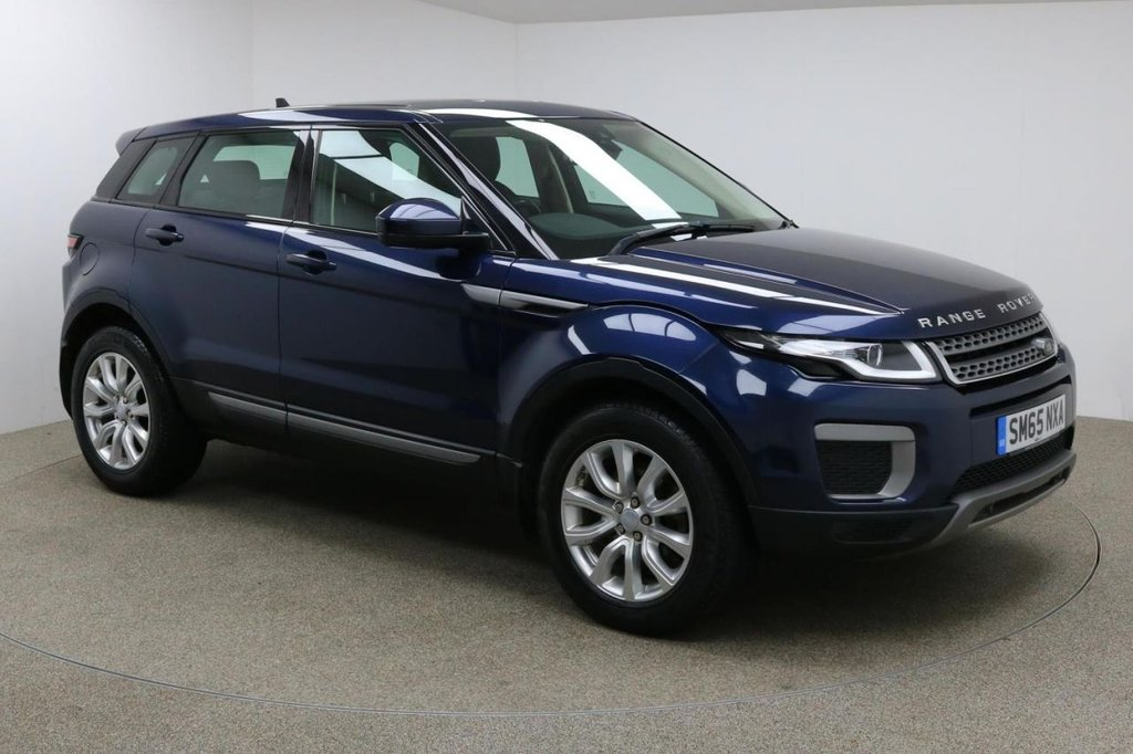 USED 2016 65 LAND ROVER RANGE ROVER EVOQUE 2.0 TD4 SE 5d 177 BHP Finished in a stunning Loire Blue + 18 inch alloys + black leather interior + Bluetooth + DAB Radio + Service history + In car entertainment - AUX / USB + Auto Start / stop + Air con + Dual climate control + Multi Function steering wheel + Cruise control + Electric mirrors + Electric windows + Front / rear parking sensors + Lane assist + Auto lights / wipers + Heated front seats + 1 Owner from new + ULEZ EXEMPT