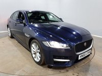 USED 2016 66 JAGUAR XF 2.0 R-SPORT 4d AUTO 177 BHP Finished in a stunning blue + Sat Nav + Bluetooth + Air con + Cruise control + Leather + Parking sensors