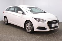USED 2015 65 HYUNDAI I40 1.7 CRDI S BLUE DRIVE 5DR 139 BHP SERVICE HISTORY + £30 12 MONTHS ROAD TAX + BLUETOOTH + MULTI FUNCTION WHEEL + AIR CONDITIONING + RADIO/CD/AUX/USB + XENON HEADLIGHTS + ELECTRIC WINDOWS + ELECTRIC MIRRORS + 16 INCH ALLOY WHEELS