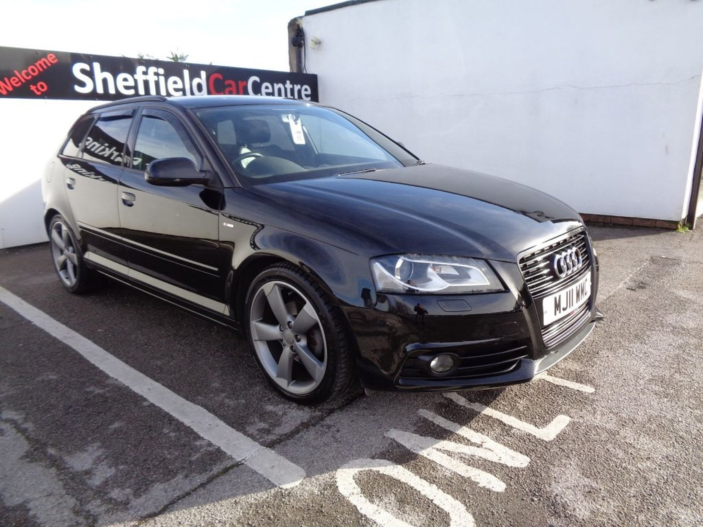 USED 2011 11 AUDI A3 2.0 SPORTBACK TDI S LINE SPECIAL EDITION 5d 138 BHP Satellite navigation  bluetooth  half leather  full service history  £30 road tax popular sought after car and colour